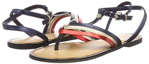 Flat Hilfiger bar rwb Sandal 020 Multicolore Tommy Salomés Corporate Femme T FEwqUCgx