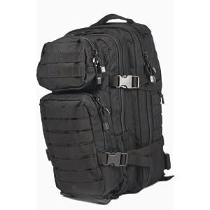41lwCXjyGpL. SS300  - Mil-Tec MOLLE Tactical Assault Backpack, 20 Litre, Black