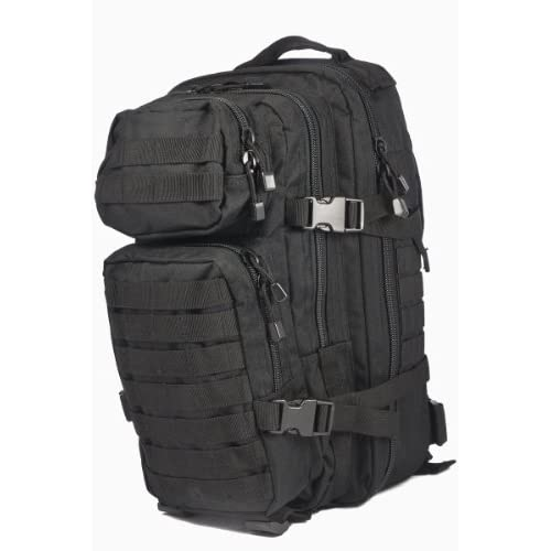 Mil-Tec MOLLE Tactical Assault Backpack, 20 Litre, Black