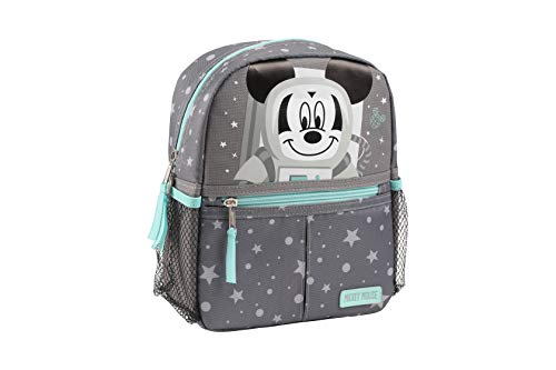 Disney Mickey Mouse Astronaut Mini Backpack with Safety Harness Straps for Toddlers (Mickey Backpack Harness)