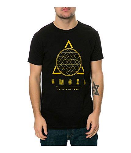 Ambiguous Cotton T-shirt - AMBIG Men's Regrade T-Shirt, Black, Medium