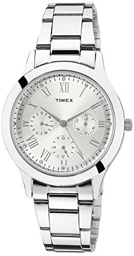 Timex Analog Silver Dial Women #39;s Watch   TW000Q806