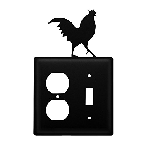 Iron Rooster Outlet & Switch Cover - Heavy Duty Metal Light Switch Cover, Electrical Outlet Covers, Lightswitch Covers, Wall Plate Cover
