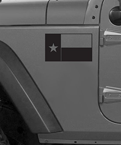 Texas Flag Vinyl Decal (Matte Black) 1 Left 1 ()