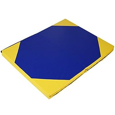 "MD Group 4' x 10' x 2"" Hexagonal Splicing Thick Folding Panel Gymnastics Mat"