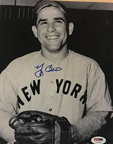 Yogi Berra signed photo ny yankees baseball psa dna 8x10 autographed mlb