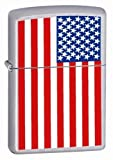 American Flag Chrome Zippo Lighter Patriotic Colors