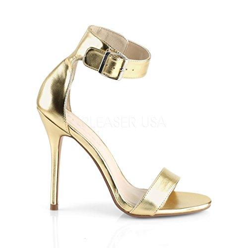 PleaserUSA Women fine ankle strap sandals Amuse-10 golden metallic golden metallic 4Ux7YajBB