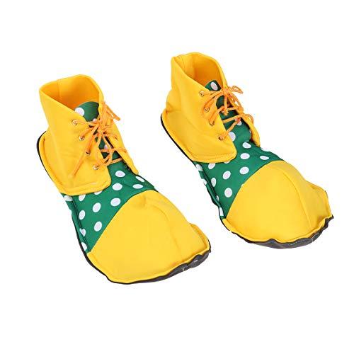 BESTOYARD A Pair of Average Size Clown Shoes Dot Halloween Costume Clown Shoes for Women Men (02)]()