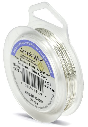 Artistic Wire 24-Gauge Tarnish Resistant Silver Wire, - Earwire Metal