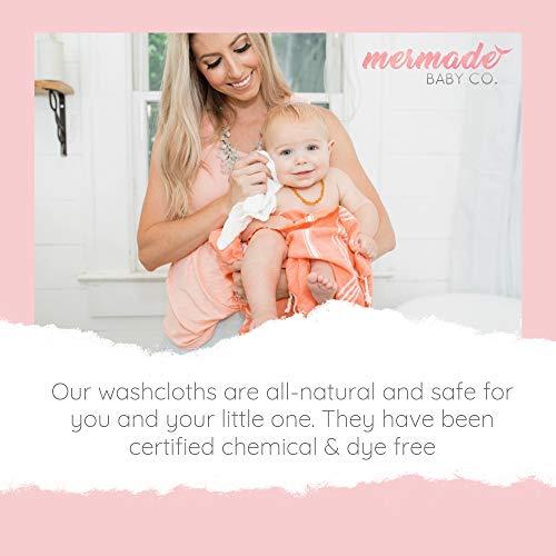 Mermade Baby Muslin Washcloths