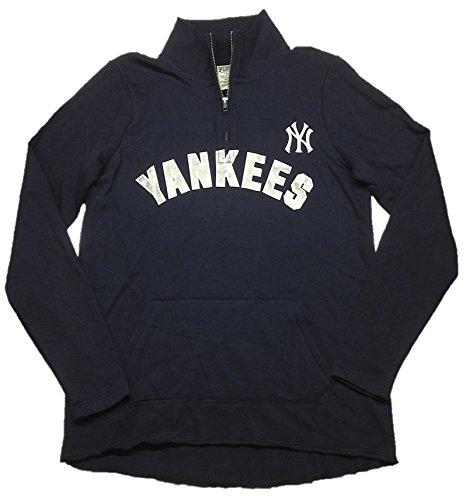 Victoria's Secret Pink New York Yankees Half Zip Pullover Sweatshirt Small