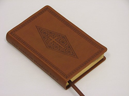 NASB Compact Bible, Brown Diamond/Cross, LT (Timeless Travel Pant)