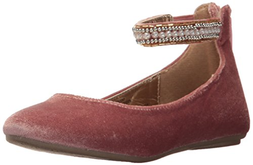 Price comparison product image Steve Madden Girls' JZILERP Ballet Flat, Blush Velvet, 1 M US Little Kid
