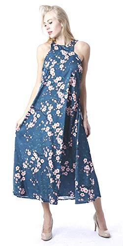 Fiesta Casual Boho Marca Estampado Sexy Mujer Playa Chocolate Vestido Maxi Largo Salina Verano Tropical Wear Primavera Cs19126 Flores Chic wqCFpW