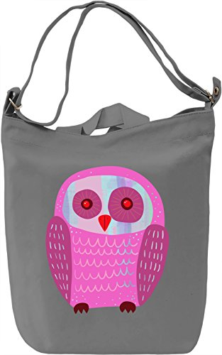 Pink Owl Borsa Giornaliera Canvas Canvas Day Bag| 100% Premium Cotton Canvas| DTG Printing|