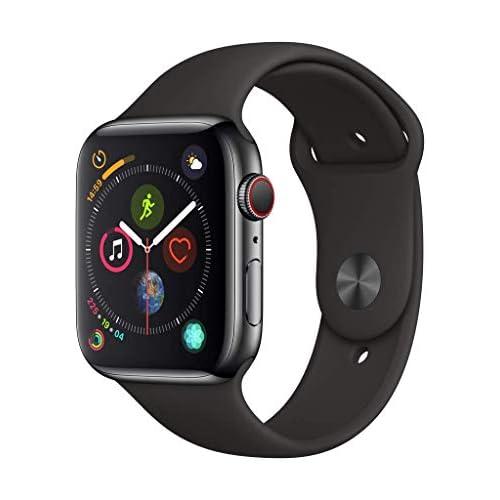 chollos oferta descuentos barato Apple Watch Series 4 GPS Cellular con caja de 40 mm de acero inoxidable en negro espacial y correa deportiva negra