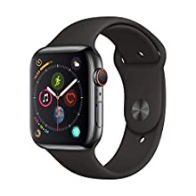 Apple Watch Series 4 (GPS + Cellular, 44mm) - Space Black Stainless Steel Case with Black Sport Band