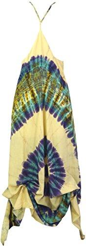Kleid Kleider Lange Batik Synthetisch Midi Size Guru Langes Bekleidung Shop Strandkleid Damen 40 Naturweiß Alternative Grün Maxikleid Sommerkleid amp; 5BqqYH7Zw