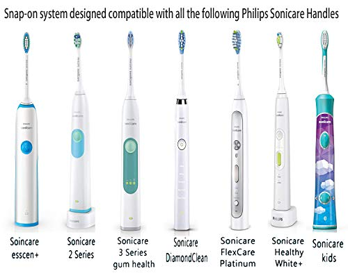 Replacement Brush Heads Compatible With Sonicare Plaque Control HX9023HX90246pack fits Philips