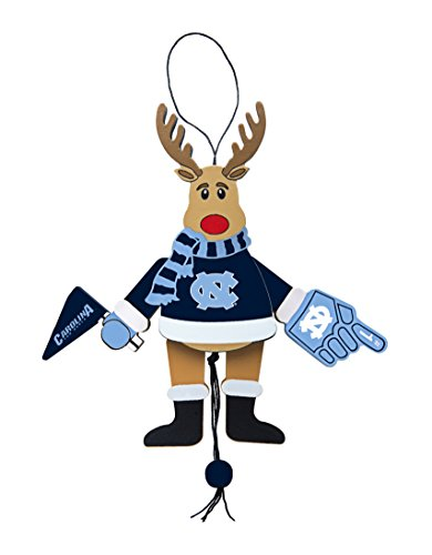 NCAA North Carolina Tar Heels Wooden Cheer Ornament