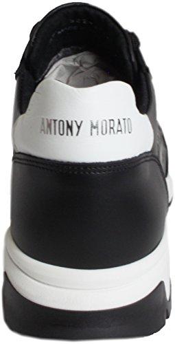 Antony Morato Italian Leather Sneakers - Black fZmXhFPW