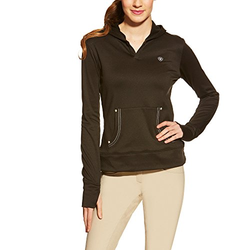 Ariat Women's Tek Fleece Hoodie, Black, Large