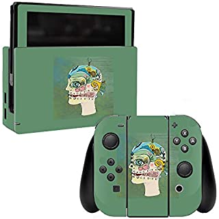 MightySkins Skin Compatible with Nintendo Switch - Head Full | Protective, Durable, and Unique Vinyl Decal wrap Cover | Easy to Apply, Remove, and Change Styles | Made in The USA