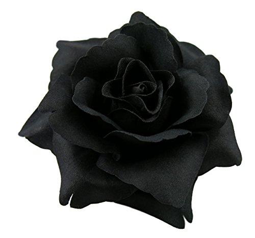 Rose Flower Hair Clip (Black)
