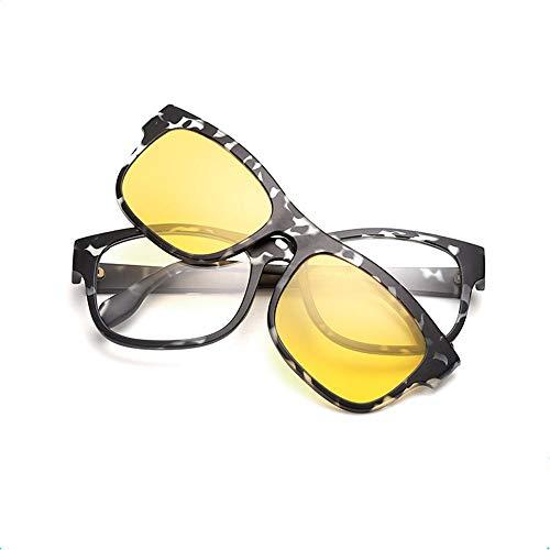 Las Marco imán Coloridos y de TR90 Gafas 2203 los Clips Espejo Mujeres de de KOMNY Las Gancho del C los A Hombres Retro fijaron del Sol dxqadw8