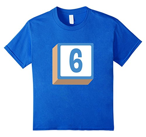 Kids 6 Six Alphabet Block Halloween Group Costume T-Shirt 6 Royal Blue - Alphabet Costumes Ideas