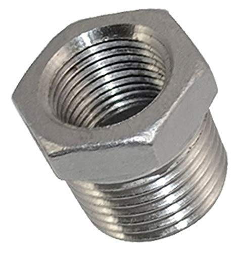 Thread Reducer npt Bushing 1//2 Male x 3//8 Female Adapter Pipe Fitting with Stainless Steel 304 NPT
