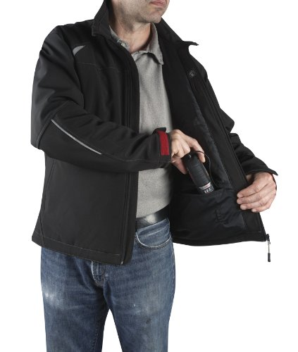 Bosch PSJ120L-102 Men's 12-volt Max Lithium-Ion Soft Shell Heated Jacket Kit with 2.0Ah Battery, Charger and Holster by Bosch (Image #2)
