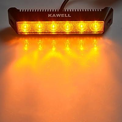 "KAWELL® 18W 7.5"" DC 9-32V 3000K 1200LM LED Amber Light for ATV/Jeep/boat/suv/truck/car/4x4 Amber LED light bar"