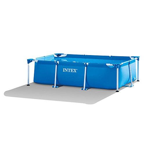 - Intex 8.5' x 5.3' x 2.13' Rectangular Frame Above Ground Backyard Swimming Pool