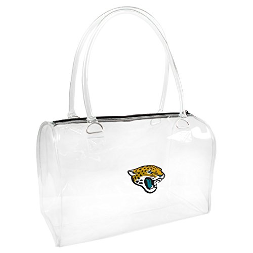 UPC 686699685782, NFL Jacksonville Jaguars Clear Bowler Handbags, 10.5 x 4.5 x 6.5-Inch, Clear