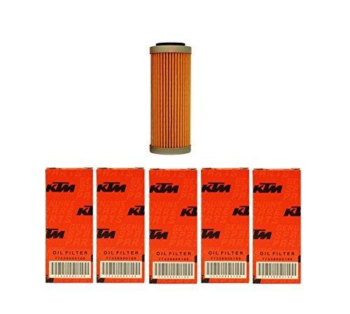 NEW OEM KTM OIL FILTERS 5 PACK 350 400 450 500 530 EXC-F SX-F XC-F XCF-W FACT. ED 2008-2017 5X 77338005100