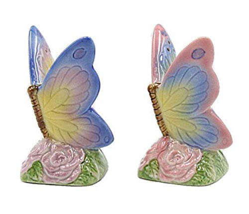 (Cosmos Gifts 20785 Butterfly Salt and Pepper Set One Size Multicolored)