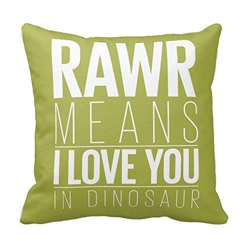 SIXSTARS Cushion Dinosaur Pillowcase Chevron