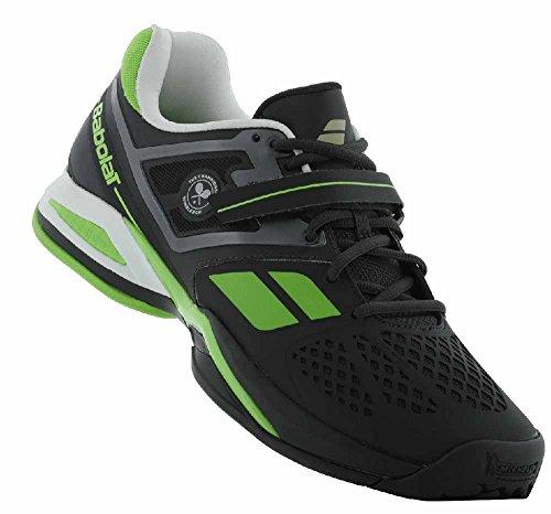 BABOLAT Propulse BPM All Court Wimbledon Zapatilla de tenis para hombre, Negro/Verde, 43 Negro/Verde