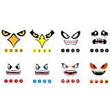 Gosear 8 Sets Cool Funny Facial Expression Drone Decals Skin Sticker for DJI Mavic Spark Drone