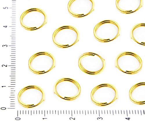 100pcs Bulk Gold Plated Double Split Jump Ring Linking Round Donut for Jewelry Making Metal Findings Wholesale 10mm