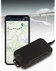 Salind GPS-tracker, auto, motorfiets en voertuigen met SIM-kaart, gratis app voor Android en iPhone, live lokalisatie in real-time, mini met interne accu