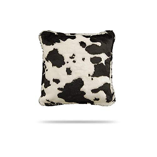 Denali Throw - Denali Home Collection by Mont Square Pillow, 18-Inch, Black Cow/Black