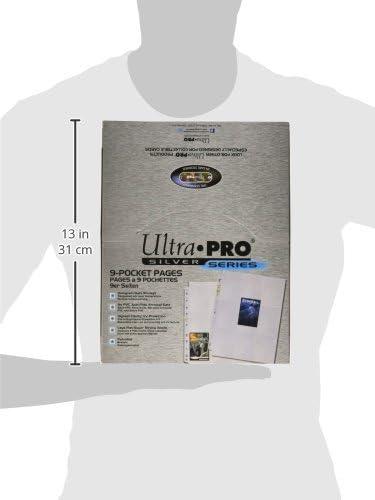 POKEMON n° 8 fogli da 4 carte ULTRA-PRO Platinum per raccoglitore a 2 anelli