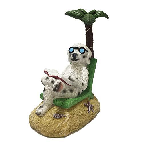 Cheap  SAVERSMALL Reading Dog Resin Statue Gnome Sculpture with Solar Light, Figurine Miniature..