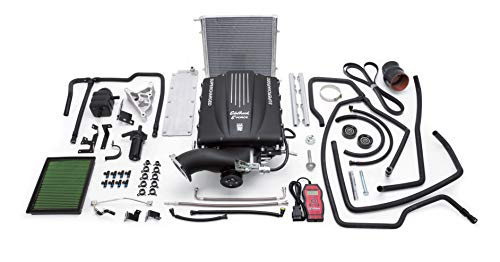 Edelbrock 1578 E-Force Supercharger Kit for GM Truck and SUV GMT900 with Chassis Gen IV Cathedral Port 4.8L/5.3L/6.0L Engines ()