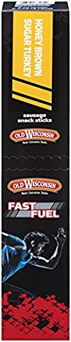 Old Wisconsin Fast Fuel High Protein Honey Brown Sugar Turkey Snack Stick, 18 Count - Old Wisconsin Snack Sticks