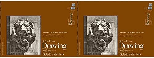 "Strathmore (400-108) 400 Series Drawing, Smooth Surface, 18 by 24"", 24 Sheets-2 Pack"