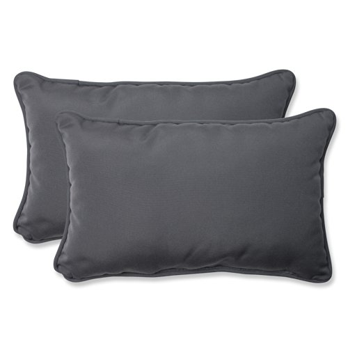 Pillow Perfect Rectangular Charcoal Sunbrella